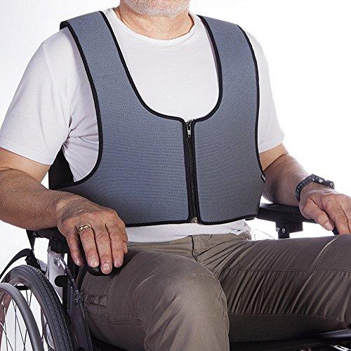 Arnés chaleco de sujeción con cremallera tipo peto, para silla de ruedas, sillas, sillones de descanso, para personas con inestabilidad, talla 1 (64-138 cm) 🔥