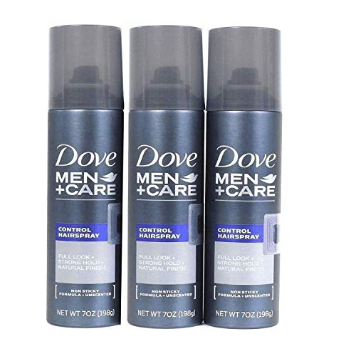 Dove Men Care 7oz Control Spray Full Look Strong Hold Natural Finish Unscented (Pack Of 3)