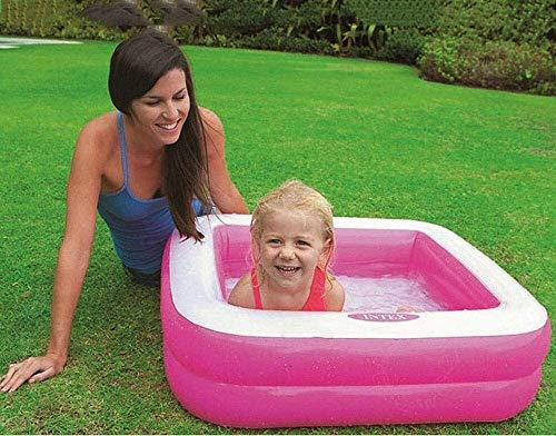 HJQFDC Falten Pool, aufblasbarer Pool, Meeresball Pool, Kinderwading Pool, Badewanne für Kinder, Spielzeug Garten Party Spielzeug (Farbe: Rosa) Peng (Farbe: grün) MEI (Color : Pink)