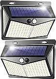 Solar Security Light Outdoor Motion Sensor Wall Lights 208 LED IP65 Waterproof Super Bright Wide Angle Solar Sensor Lights Garden Pack of 2