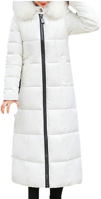 Omniscient Women Down Coat Fur Hood Down Parka Puffer Jacket