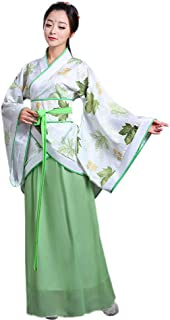 XFentech Women's Chinese Costume - Ancient Chinese Style Clothes Hanfu Tang Suit Dress - Cosplay Performances Costume