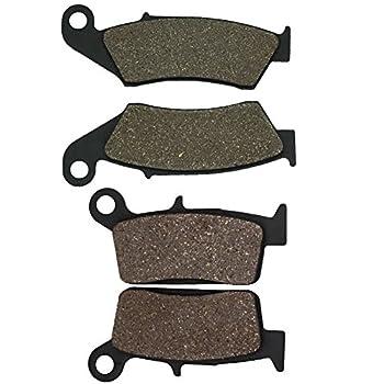 Cyleto Front and Rear Brake Pads for Kawasaki KX125 KX 125 1995 -2005 / Honda XR650L XR600R CR500R CR250R XR250L