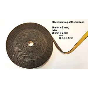 Cinta aislante autoadhesiva negra, 10x 2mm, 20x 2mm o 20x 4mm, ideal para parabrisas, juntas de estufas y ahumadores, hasta 550°C