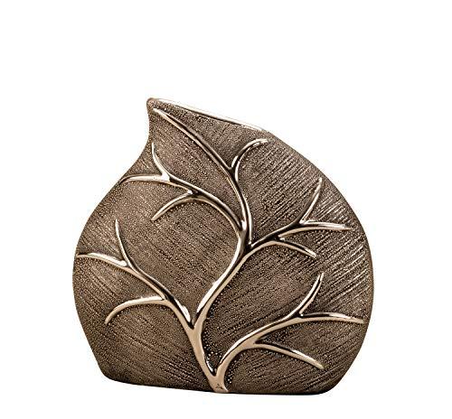 Mel-O-Design Exklusive hochwertige Vase in Blattform - Höhe 19 cm Breite 21 cm - Dekovase