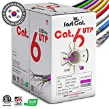fastCat. Cat6 Ethernet Cable 1000ft - Insulated Bare Copper Wire Internet Cable with Noise Reducing Cross Separator - 550MHZ / 10 Gigabit Speed UTP LAN Cable 1000 ft - CMR (Purple)