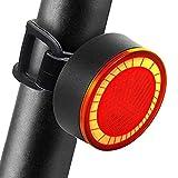 Luz Bicicleta Trasera 120 Lúmenes con Modos Flash Constante, Luces Bicicleta Potentes de Freno Automático Recargable & Impermeable - JOFLY
