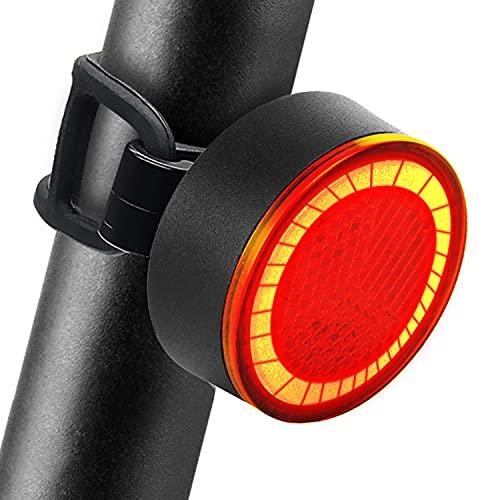 JOFLY Feu Arriere Velo LED 120 lumens avec Modes Flash Permanent, Lumiere Velo de Freinage Automatique Etanche & Rechargeable