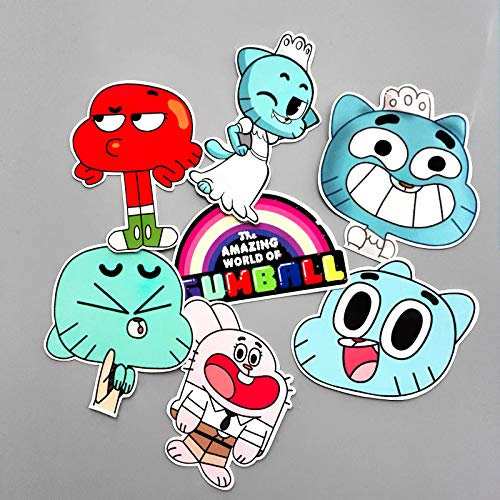 NTA 14Pcs/Set Funny Anime The Amazing World of Gumball Sticker for Car Laptop Backpack Motorcycle Phone Decal Kids Toy Sticker