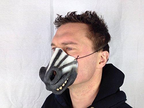 Funny demi visage-Masque zèbre en Latex Fetish Fantasy Déguisement de cerf Doré