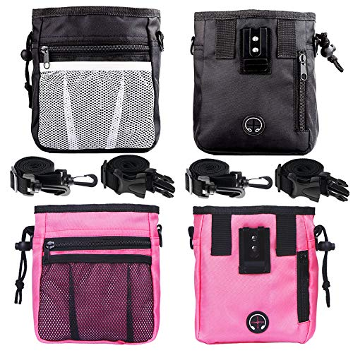 STMK 2 Pack Dog Treat Pouch, Dog Training Treat Pouch with Waist Shoulder Strap, 3 Ways to Wear,...