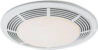 "Broan-NuTone 8663RP Bathroom Exhaust Fan and 100-Watt Incandescent Light with Glass Lens, 5.0 Sones, 100 CFM, White, 4"""