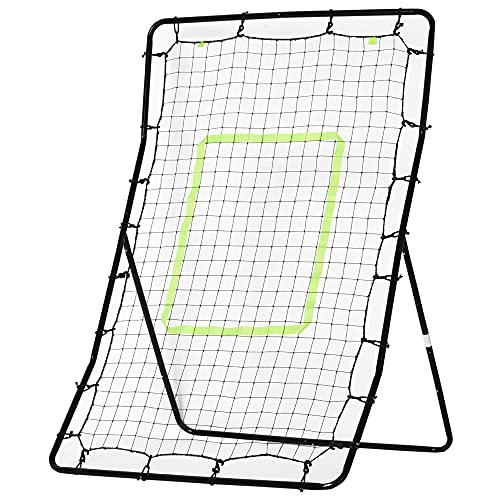 homcom Rete Elastica Rimbalzo da Calcio Rimbalzatore Portatile 90×80×140cm