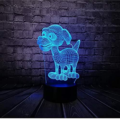 3D Night Light Dog s 7 Colors Sensor Room Decoration Bedroom Lights Led Night Lights for Children Kids Baby