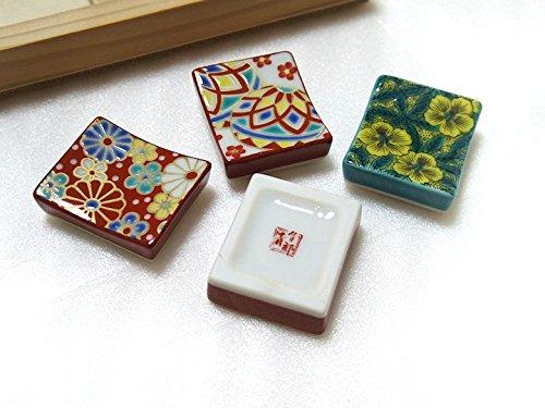 【九谷焼】色絵箸置きコレクションセットKUTANIはしおき30個木箱入りギフトセット