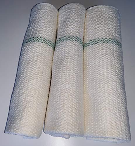 Scheuertuch 3 x Scheuerlappen weiß Bodentuch Putzlappen Aufnehmer Bodenwischtuch Wischlappen Baumwolle Viskose und Syntetic Fasern 50x50