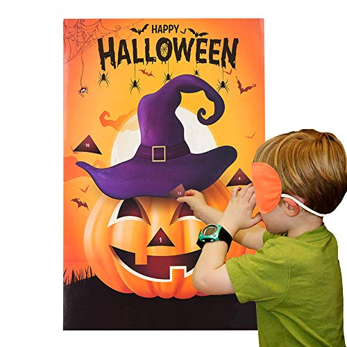 Find Cheap MISS FANTASY Halloween Party Games Pin The Nose on The Pumpkin Game for Kids Halloween Co...