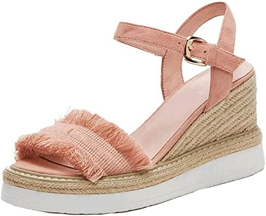 Amazon.com: Sandals Elegant Pink Wedge
