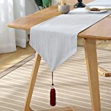 FeiFei156 Simple Home Decoration Hotel Bed Tail Towel Table Exquisite Tassel Table Drapeau Arbre Ya 33 x 180cm