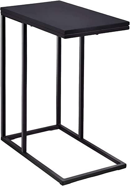 Tangkula Coffee Tray Sofa Side End Table Ottoman Couch Table Console Table Lap Table Snack Table C Table End Table Black