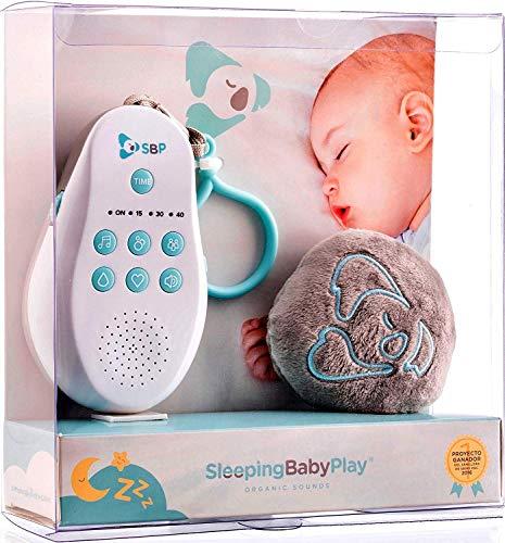 Sleeping Baby Play: Reproductor de Ruido Blanco y Melodías para Bebés + Peluche Dou Dou Play. Sistema Patentado
