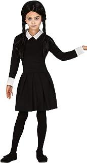 SCUOLA Per Bambini Ragazza Costume Costume MERCOLEDI /'ADDAMS Halloween L
