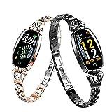X'traEdition 2019 New Fitness Tracker Waterproof Smart Watch Pedometer H8 Color Screen Blood Pressure/Heart Rate Monitor Smart Bracelet Watch (Black)