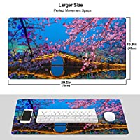 美しい桜 (3) マウスパッド超大型 ファッションゲーム マウスパッド 防水 滑り止め ラバーベース付き 人気 男女兼用 プレゼント Pc オフィス 利用可能