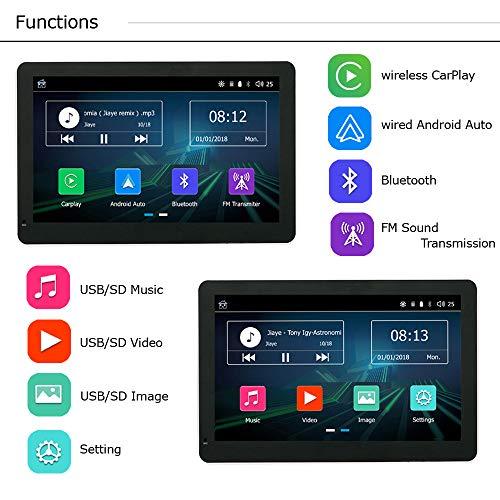 Road Top Más Nuevo Inalámbrico Apple Carplay Cableado Android Auto Car Multimedia Player, 7