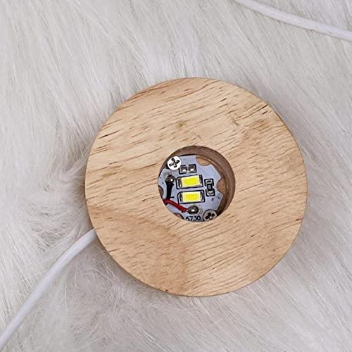 BEISHI Piedra calmante Lámpara de Yeso Rosa Selenite Natural, Rascacielos, Torres de Castillo, Punto de Cristal de Yeso, decoración del hogar (Color : Lamp Base)