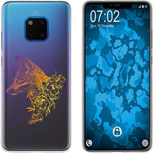 Preisvergleich Produktbild PhoneNatic Case kompatibel mit Huawei Mate 20 Pro Silikon-Hülle Floral Fuchs M1-3