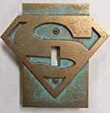 Superman Logo - Light Switch Cover (Aged Patina)