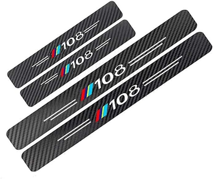 YPQQG Popularity 4Pcs Car Door Sill Guard Protector Scuff P Kick Fixed price for sale for Plate