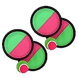 Gobesty Klettballspiel, Spielzeug Werfen Klettspiel, Toss and Catch Ballspiel, Outdoor Spiele Catch Ball Set, Ballwurf Fangspiel Klettball Ballfangspiel, für Kinder Erwachsene 4 Paddel 2 Bälle