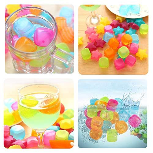 Yi Xuan 40 Reutilizable Cubos de Hielo, Estrella y Cuadrado del Cubo de Hielo moldes for la Cerveza y Bebidas, Herramientas del Cubo de Hielo moldes for la Cocina
