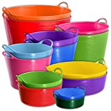 Large Red Flexible Strong TubTrugs® Storage Bucket Baskets (ALL COLOURS AND SIZES) & Tigerbox® Antibacterial Pen