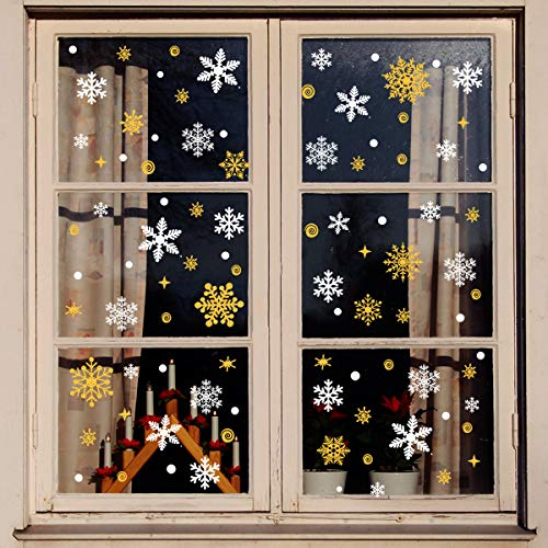 (40% OFF Coupon) 8 Sheets Snowflake Window Stickers $5.99