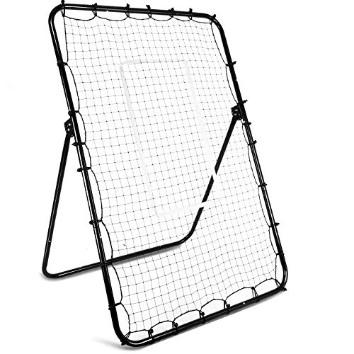 amzdeal Baseball and Softball Pitching Net and Rebounder 72x48 Inches Baseball Pitching Machine Baseball Net for Baseball Training Equipment with 4 Ground Nails Youth Baseball Accessories