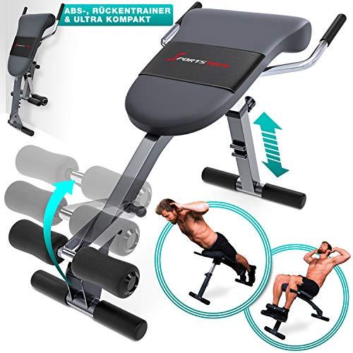 Sportstech Appareil de Musculation du Dos et des abdominaux 3-en-1 BRT200, Banc Sit-up Pliable inclin, Hyper Extension, Multifonctionnel, Fitness Maison, 5 Angles dInclinaison (BRT200)