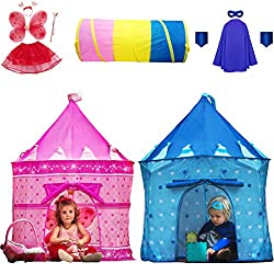 kids play tent teepee fort toddlers children princess castle playhouse