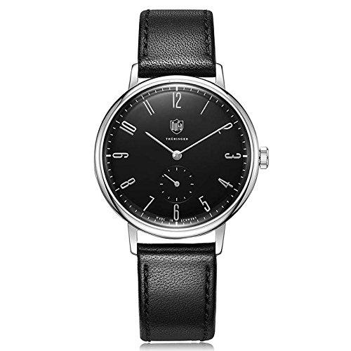 DuFa Unisex Analog Quarz Uhr mit Leder Armband DF-9001-01
