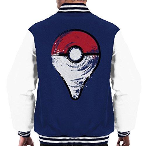 Ga Poke Ball in stijl van de kaart Drop Pin mannen Varsity Jacket