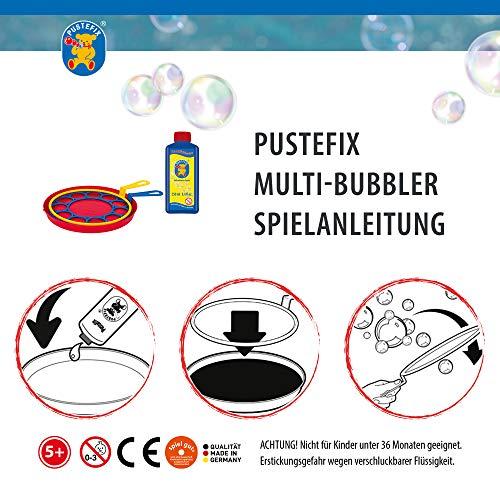 Pustefix Multi-Bubbler + Nachfüllkanister 2,5 Liter I Bunte Bubbles Made in Germany I Seifenblasen Spielzeug für Hochzeit, Kindergeburtstag, Polterabend I Große Seifenblasen für Kinder & Erwachsene