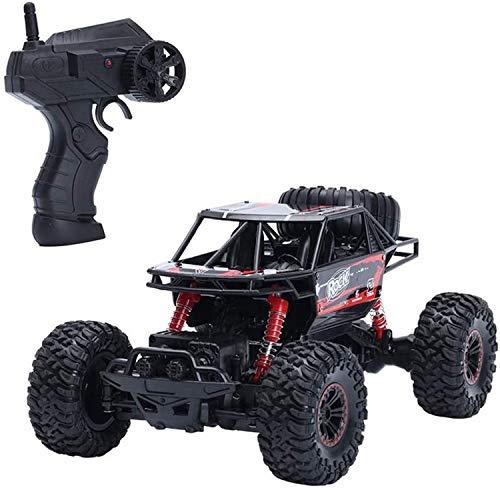 JFFFFWI SUV de Gran tamaño, Rojo, Todoterreno, Coche de Escalada, 2,4 GHz, de Alta Velocidad, Todoterreno, tracción en Las Cuatro Ruedas, camión sobre orugas, eléctrico, Drift Buggy, cargable, Monst