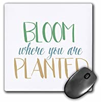 Bloom Where You Are接地–マウスパッド、8× 8インチ(MP 213090_ 1)