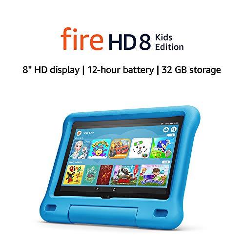 "Fire HD 8 Kids Edition tablet | 8"" HD display, 32 GB, Blue Kid-Proof Case"