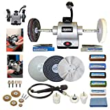 Draper 6' 370W Bench Grinder Polisher with Pro-Max 6' Deluxe Metal Polishing Kit
