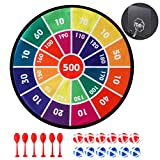 CX L SUM Kids Dart Board Game with 12 Sticky Balls and 6 Sticky Darts, 13.8 Inches(35 cm) with Hook, Safe Dart...
