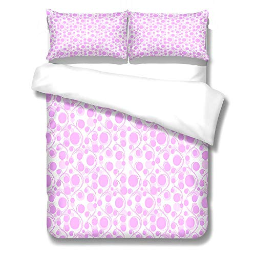 Bedding Set Duvet Cover and Pillowcase Purple Microfiber Boy Child Teenager Duvet Cover Zipper Closure 1 Quilt Bedding Set with 2 Pillowcases, Super King: 260x240 cm