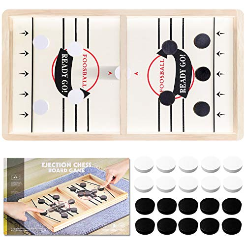 Toydaze Sling Foosball Fast Sling Puck Game with Extra 10 Pucks amp 2 Slingshots for Spare Use Portable Slingpuck Board Game for Child Foosball Slingshot Outdoor Camping Board Games for Family Large